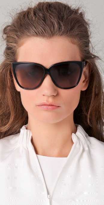 Gucci Cat Eye Sunglasses  gucci youngster oversized cat eye sunglasses in black lyst