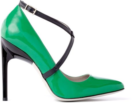 Jason Wu Christie Pump in Black (green/ black patent) - Lyst