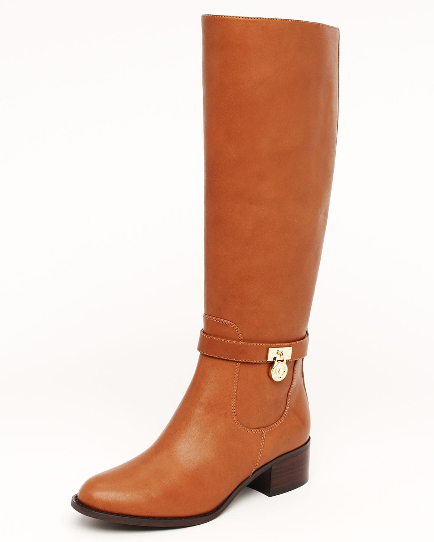 michael michael kors hamilton boot in brown lyst