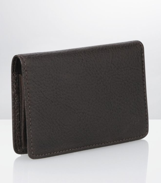 Mulberry chocolate business card holder in brown for men lyst gallery reheart Gallery