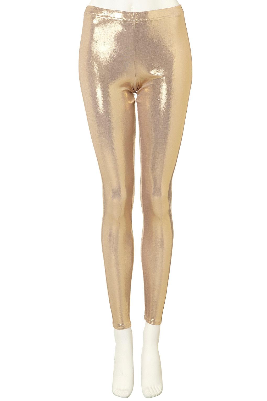 Lyst Topshop Gold Metallic Leggings In Metallic