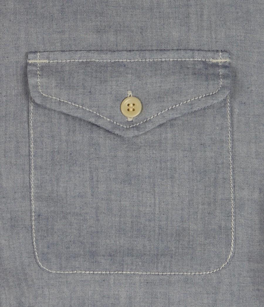 AllSaints Baptiste L/s Shirt in Blue Chambray (Blue) for Men