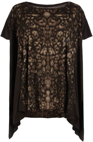 Allsaints Camouflage T-shirt in Black (ebony/natural)
