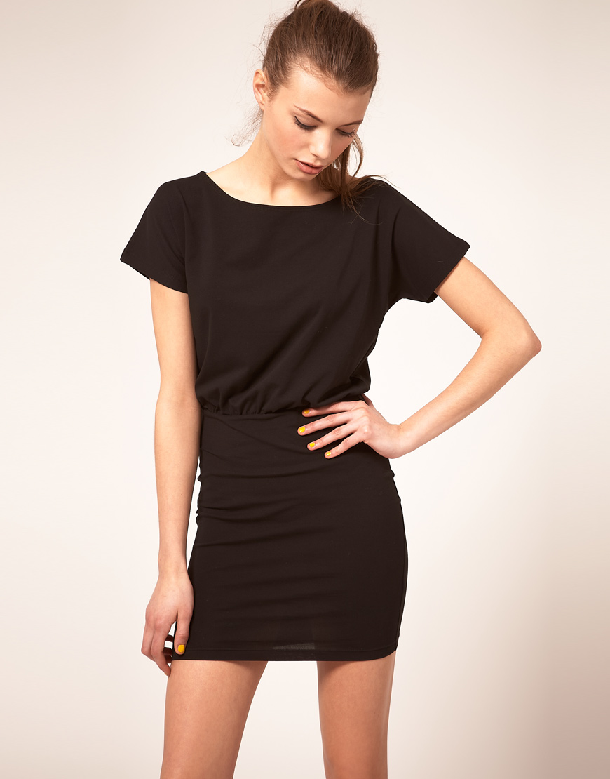 asos collection asos tshirt dress with tight skirt in