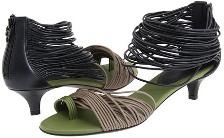 Bottega Veneta Sandal Heels  in Black (n) - Lyst