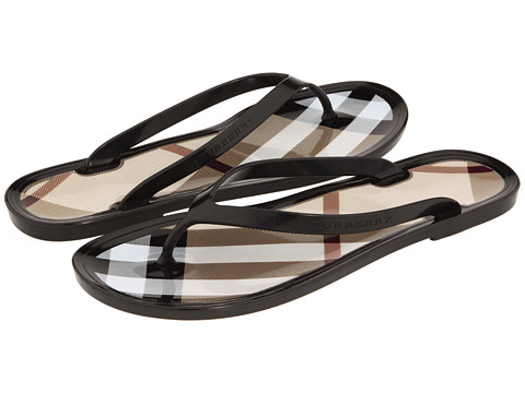 d32d552dfafaa Lyst - Burberry Signature Check Jelly Flipflop in Black