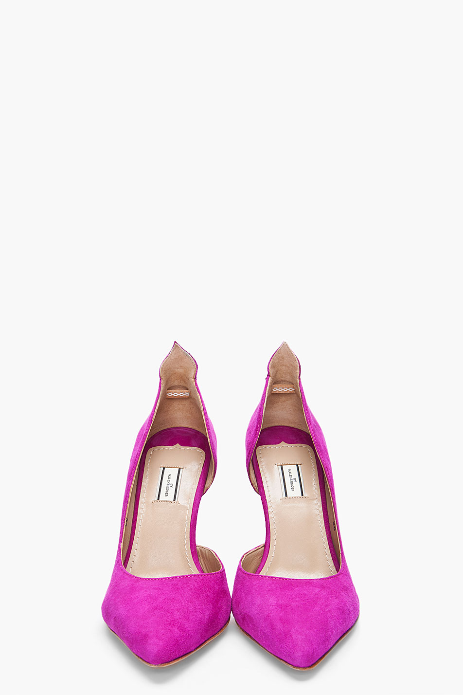 b4a23d91512 Lyst - By Malene Birger Raspberry Suede Sinousa Heels in Purple