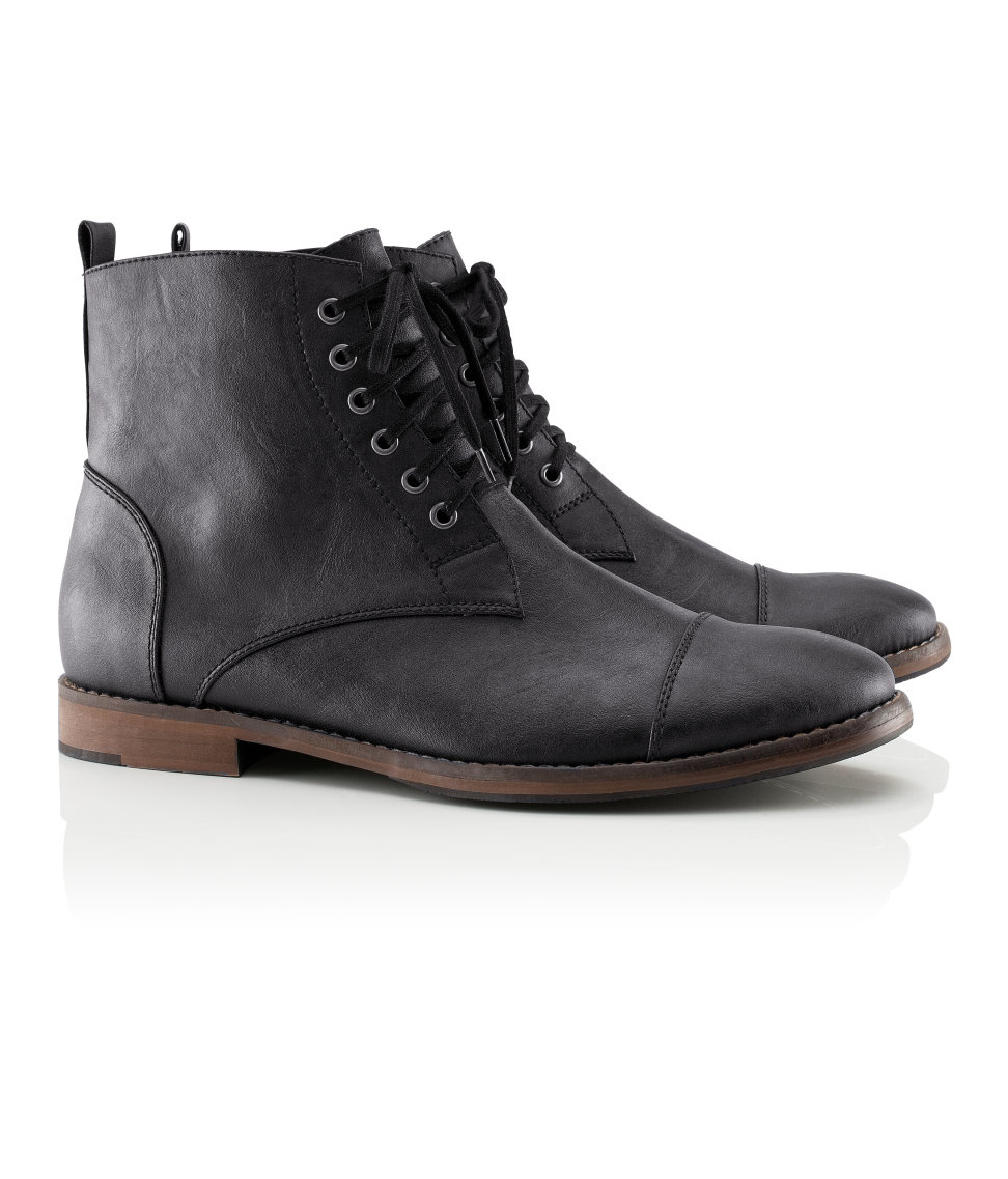 h m boots in black for lyst