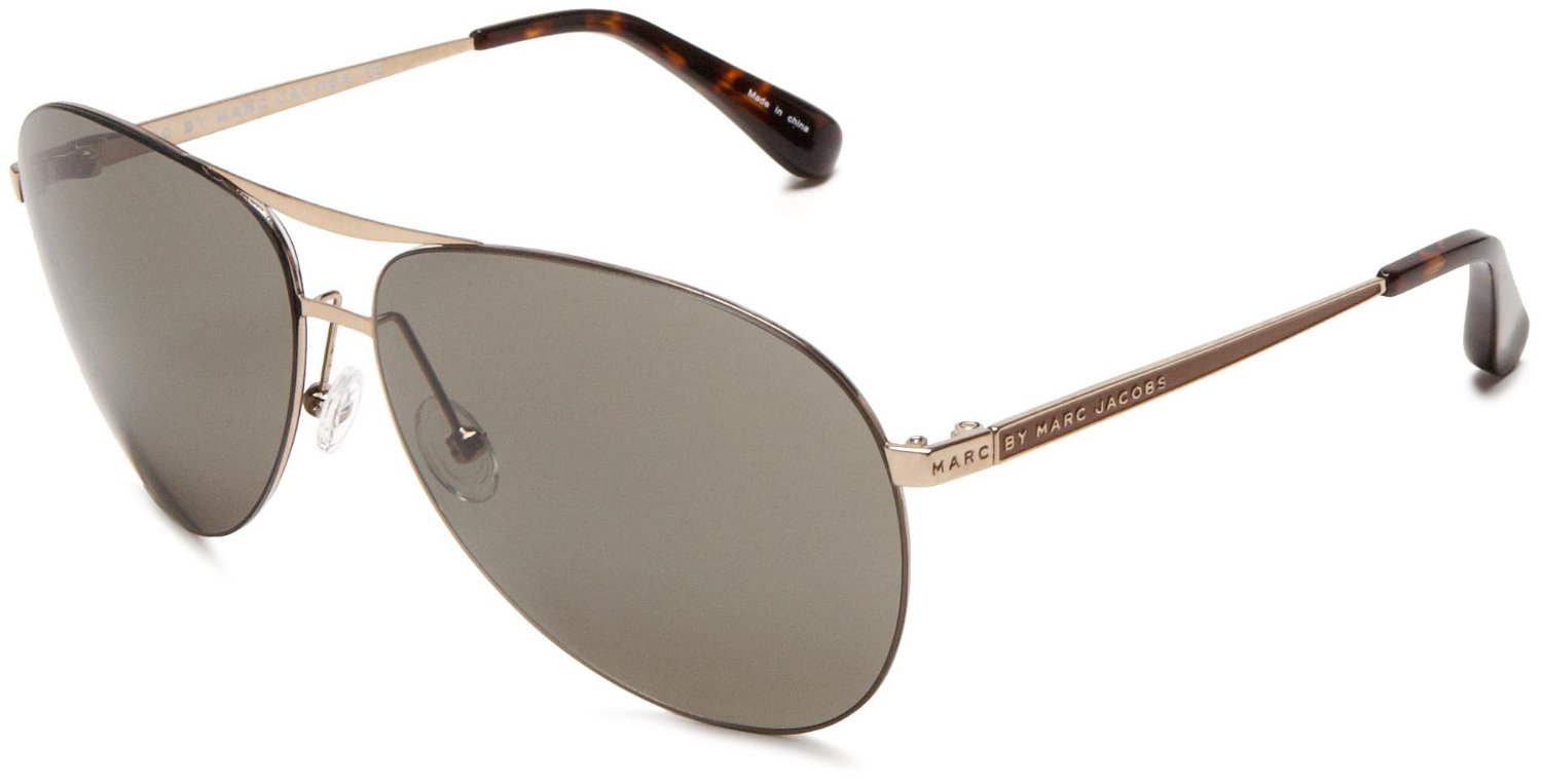 Marc Jacobs Gold Frame Sunglasses : Marc By Marc Jacobs Womens Mmj 244 S Aviator Sunglasses in ...