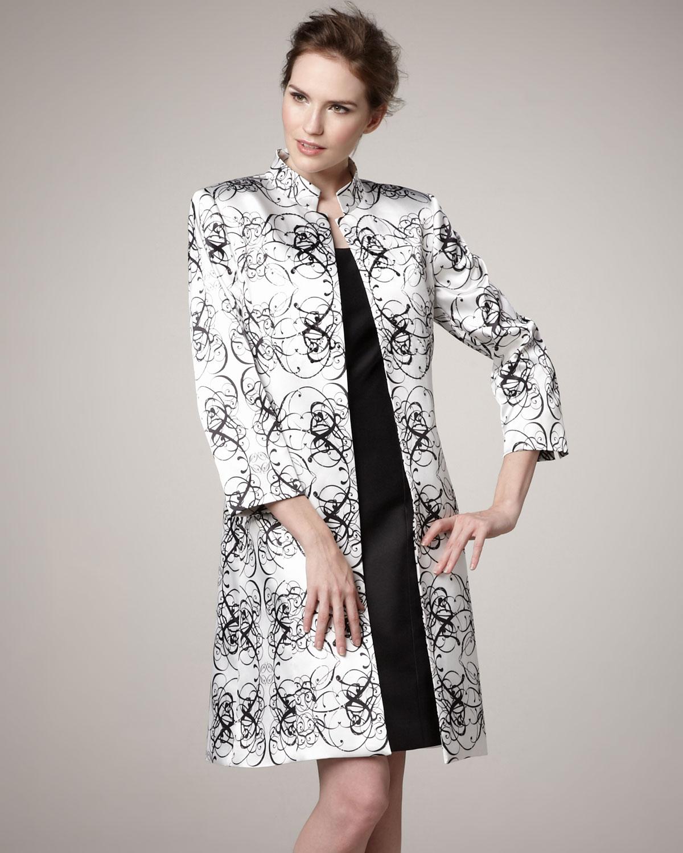 bffae901 Tahari Scroll-print Jacket and Sheath Dress in Black - Lyst