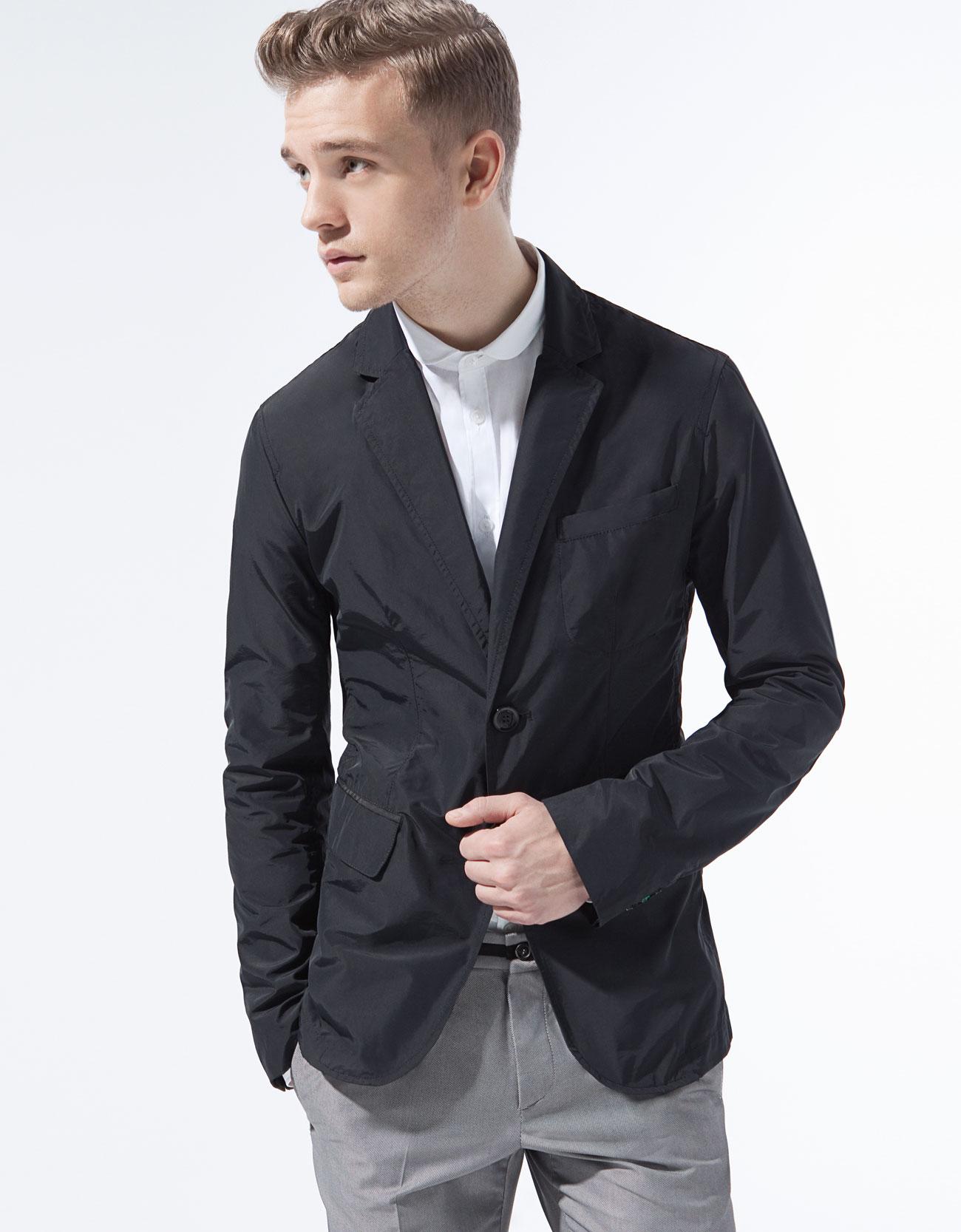 Zara Club Collar Shirt In Black For Men | Lyst