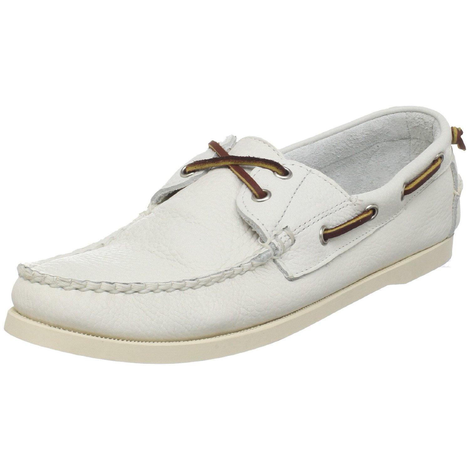 ralph mens telford boat shoe in white for lyst