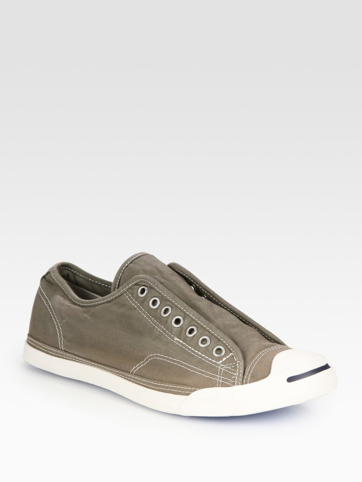 Jack Purcell Laceless Canvas Sneakers