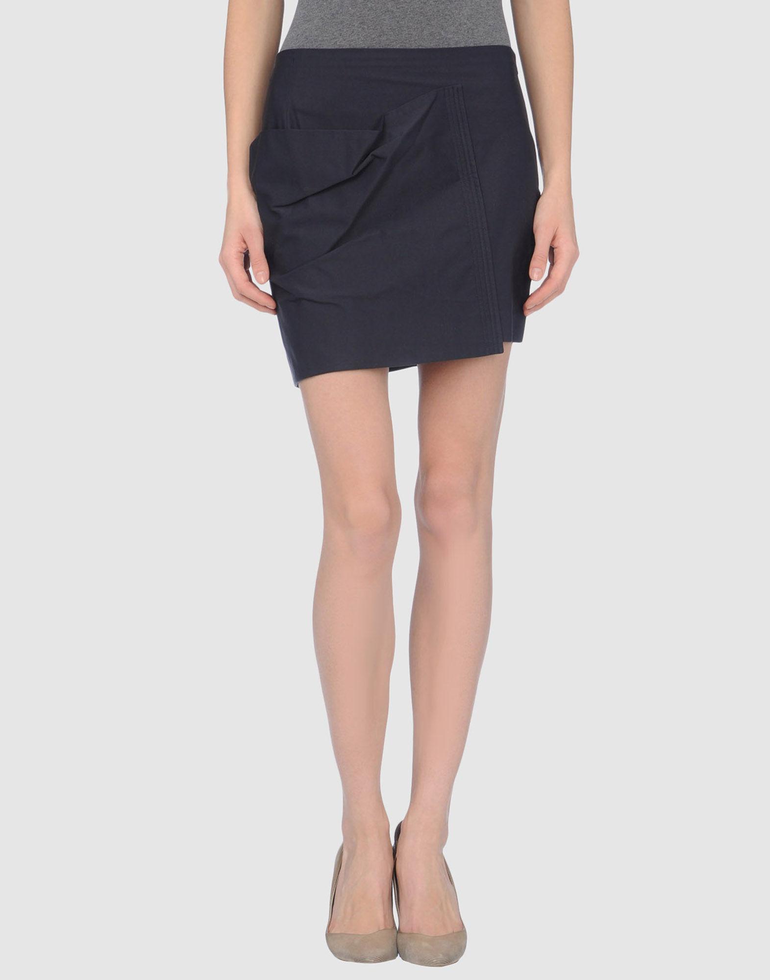 jil sander navy mini skirt in blue save 52 lyst