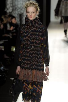 Mulberry Fall 2012 Sheer Zig-Zag Print Dress - Lyst