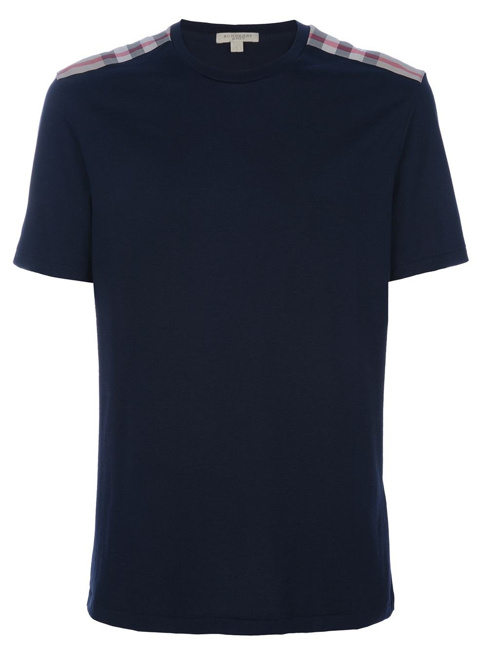 burberry brit check detail t shirt in black for men lyst. Black Bedroom Furniture Sets. Home Design Ideas