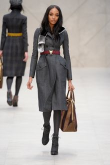 Burberry Prorsum Fall 2012 Dark Grey Suede Heeled Lace-Up Ankle Boots  - Lyst