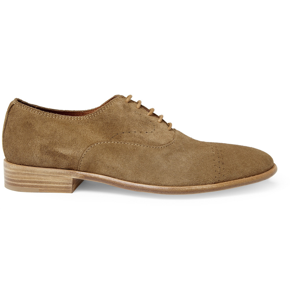 folk bobby suede oxford shoes in brown for lyst
