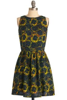 ModCloth Electric Sun Dress - Lyst