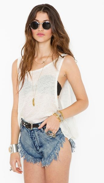 Nasty Gal Original Zzs Cutoff Shorts in Blue (denim)