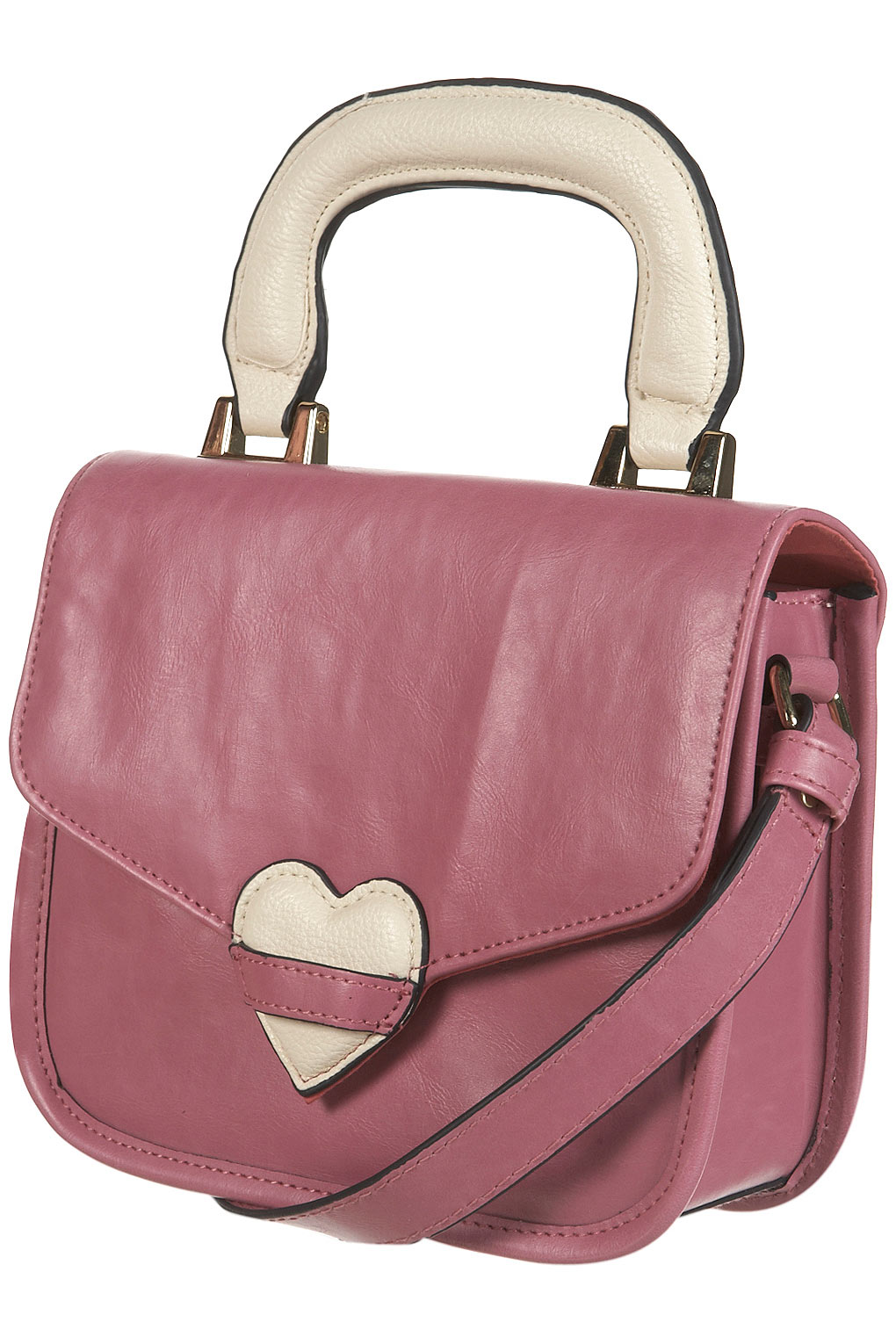 Topshop Pink Padded Heart Bag Lyst