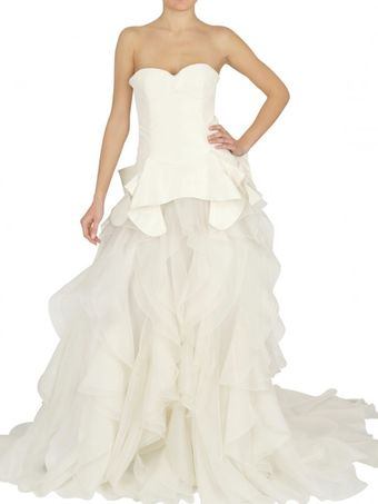 Alexander McQueen Taffeta And Organza Dress - Lyst