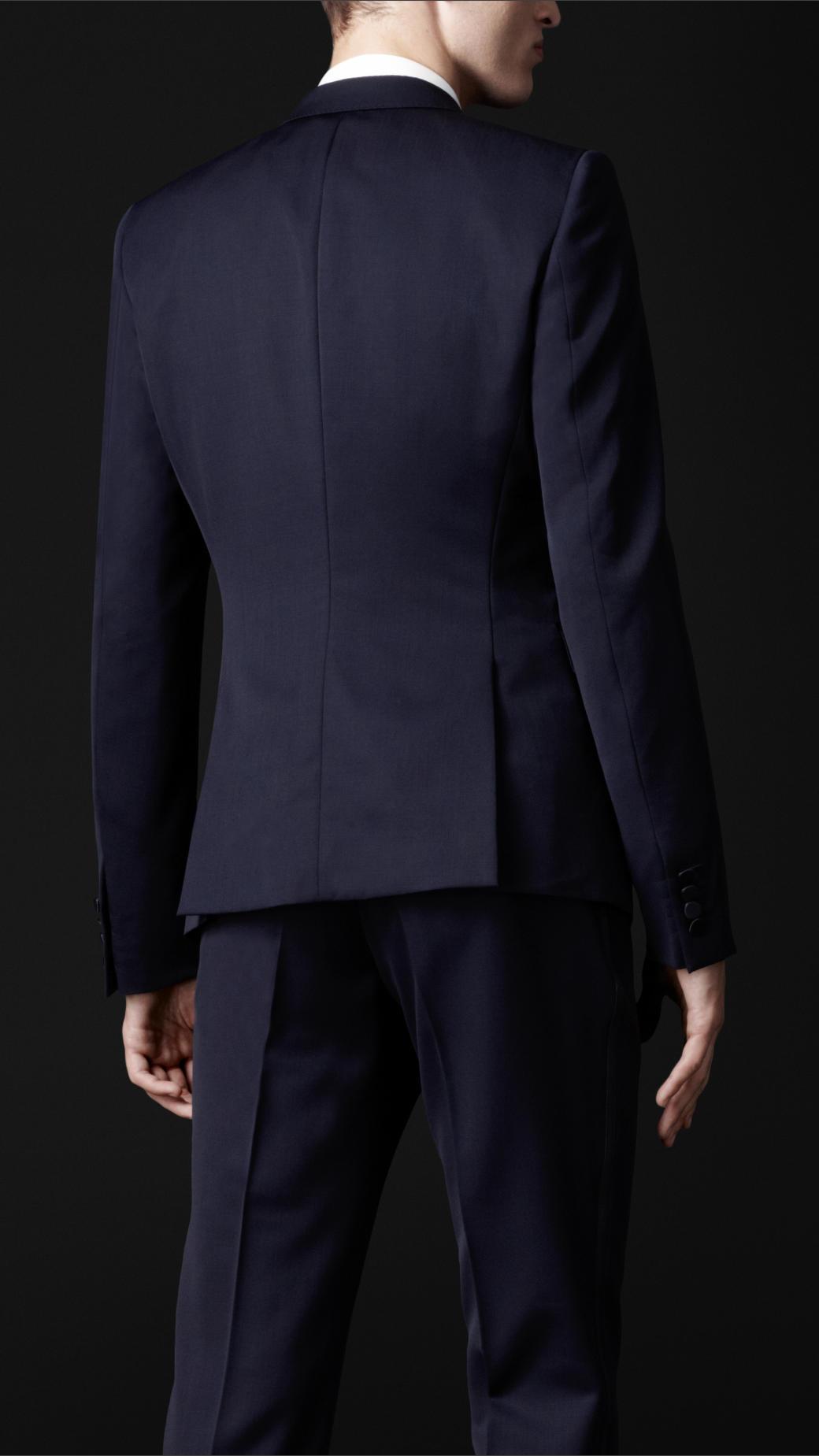 Burberry Prorsum Satin Lapel Dinner Jacket in Navy (Blue) for Men