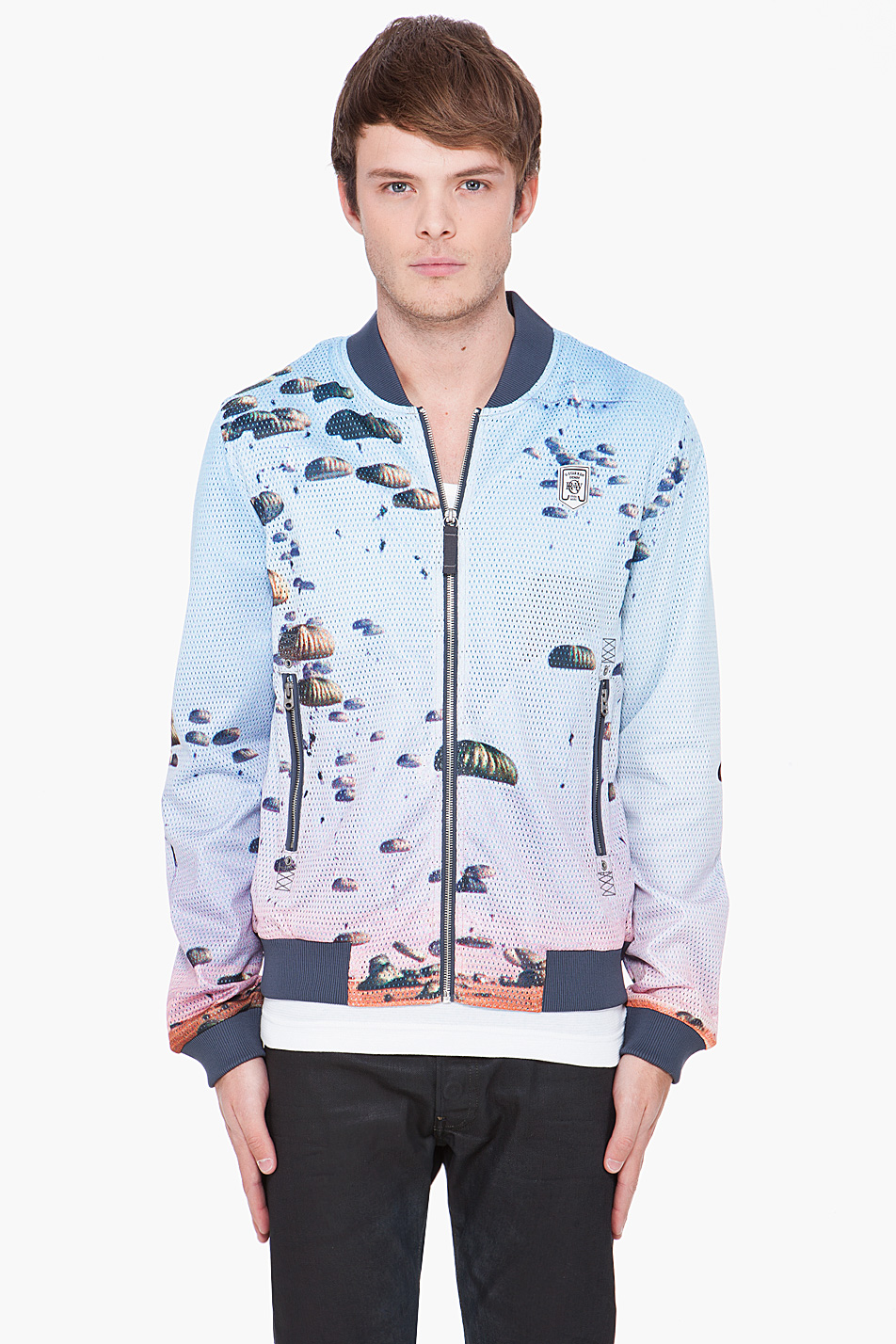 lyst g star raw halo bomber jacket in blue for men. Black Bedroom Furniture Sets. Home Design Ideas