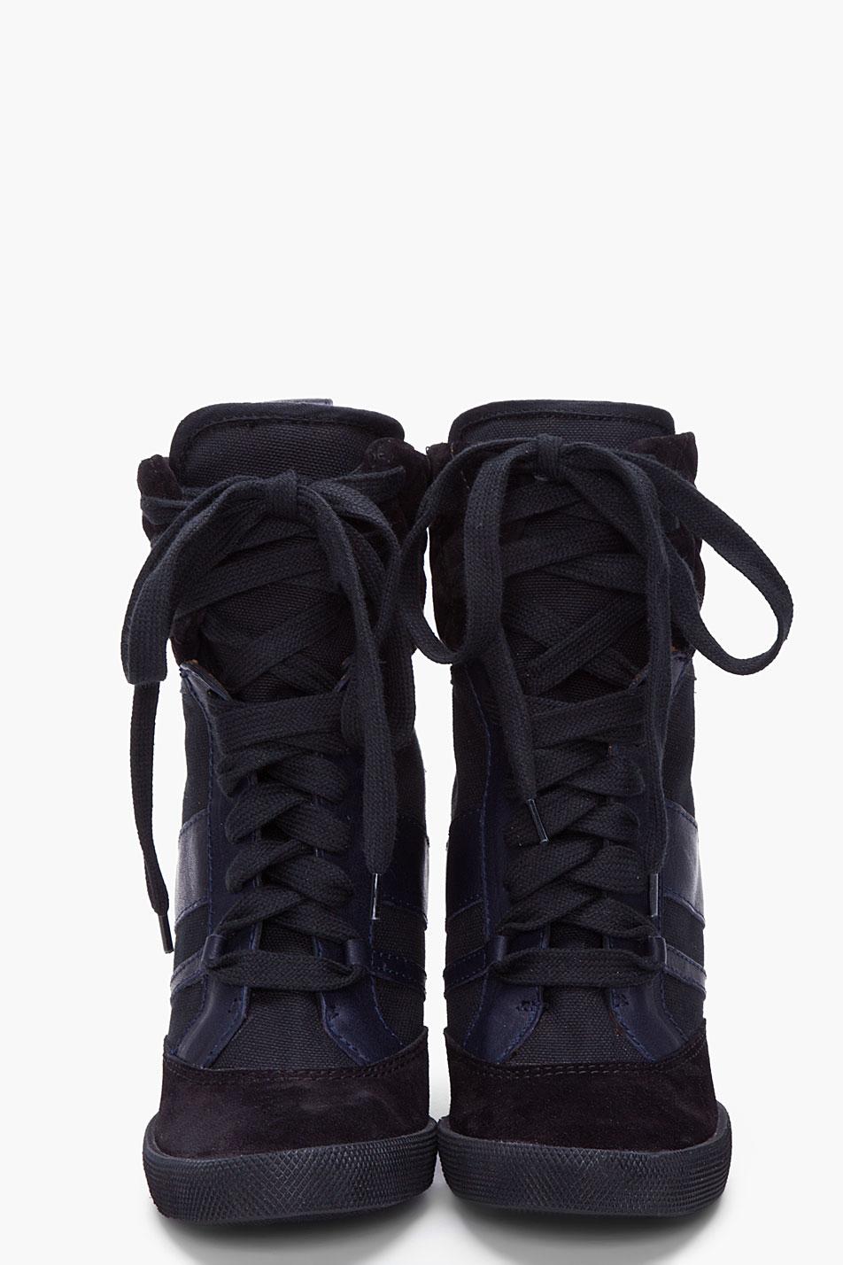 Lyst Chlo 233 Black Wedge Sneakers In Black