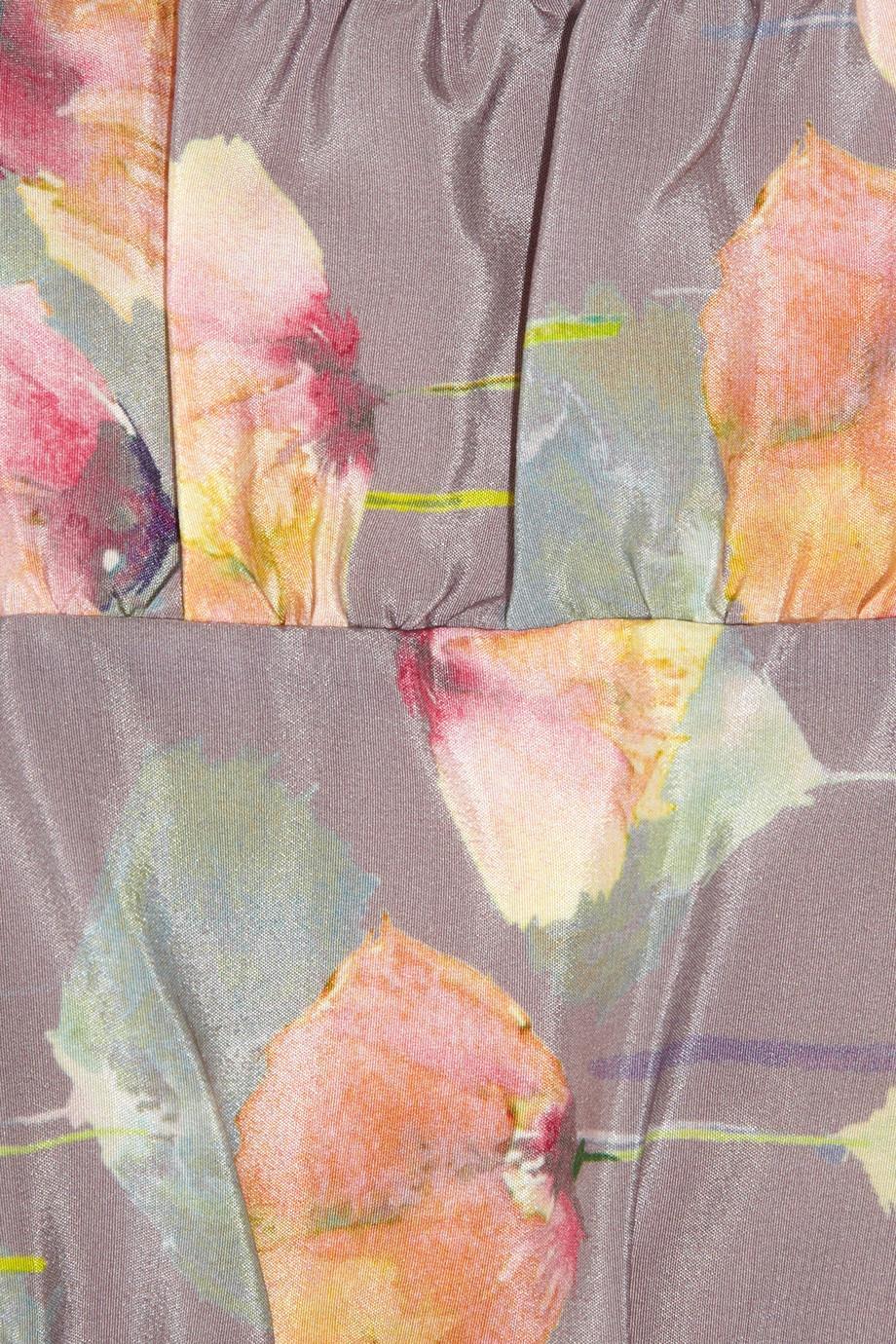 Tucker Floral Print Silk Dress Lyst