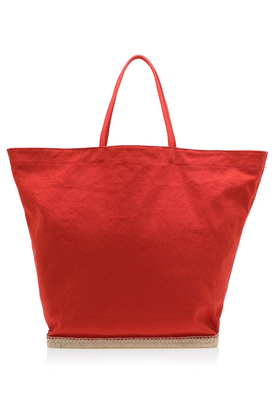 Castaner st tropez beach tote in red lyst for Designer beach bags and totes