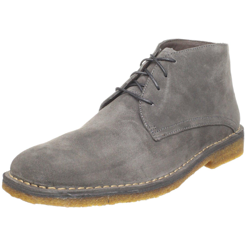 johnston murphy mens runnell chukka boot in gray for