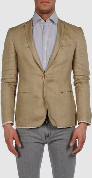 costume national homme blazer in beige for men camel lyst. Black Bedroom Furniture Sets. Home Design Ideas
