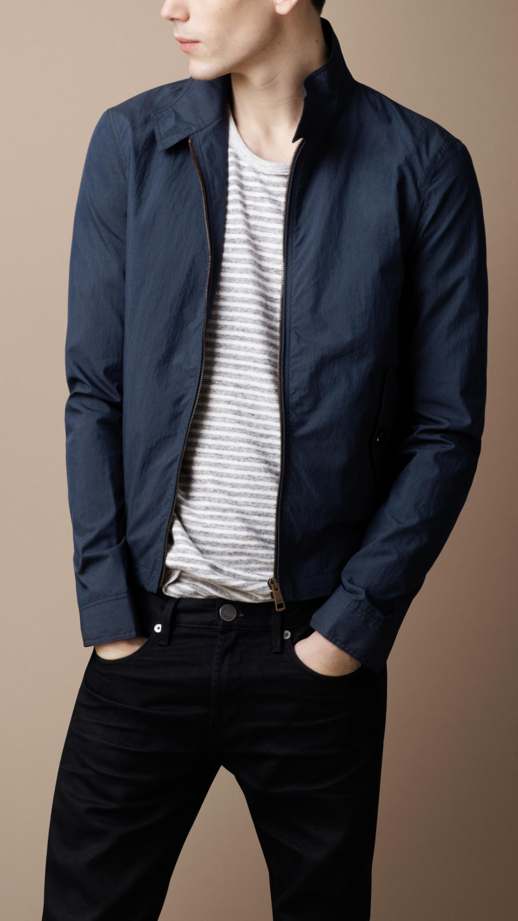 burberry brit workwear field jacket in blue for men lyst. Black Bedroom Furniture Sets. Home Design Ideas