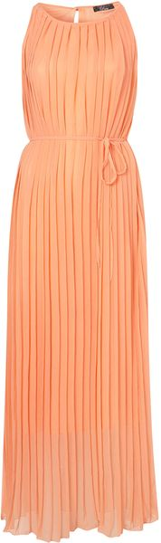 Topshop Pleat Maxi Dress By Rare** - Lyst