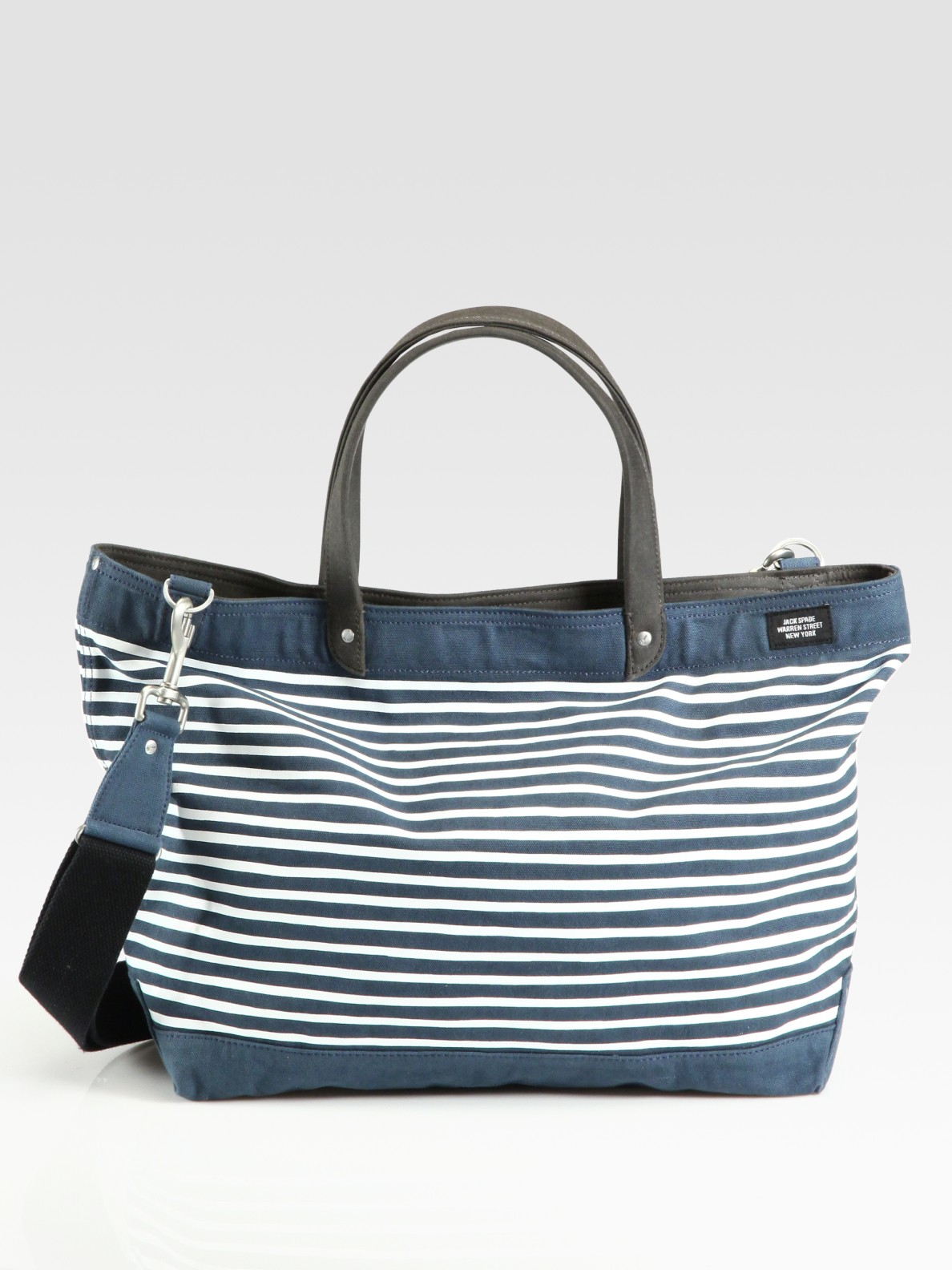 7680c5a6b Jack Spade Coal Striped Waxed Cotton & Canvas Bag in Blue for Men - Lyst