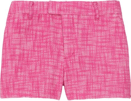 Juicy Couture Woven Cotton and Linen-blend Tweed Shorts in Purple (fuchsia)