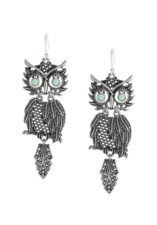 Women S Metallic Shakey Owl Earrings