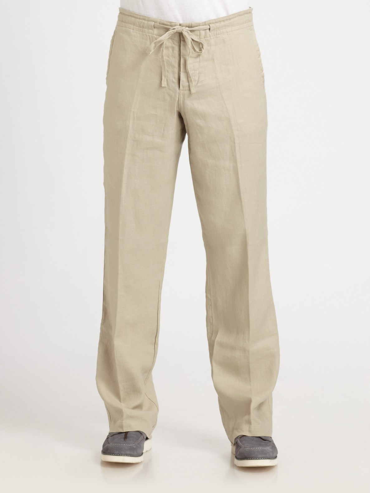Drawstring Linen Pants For Men