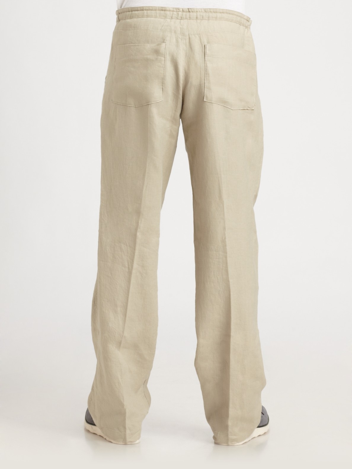 Saks Fifth Avenue Linen Drawstring Pants In Oyster