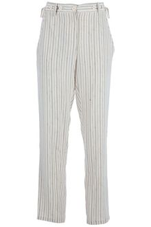 Vanessa Bruno Stripe Silk Trouser - Lyst