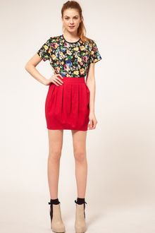 ASOS Collection Asos Linen Mini Bell Skirt - Lyst