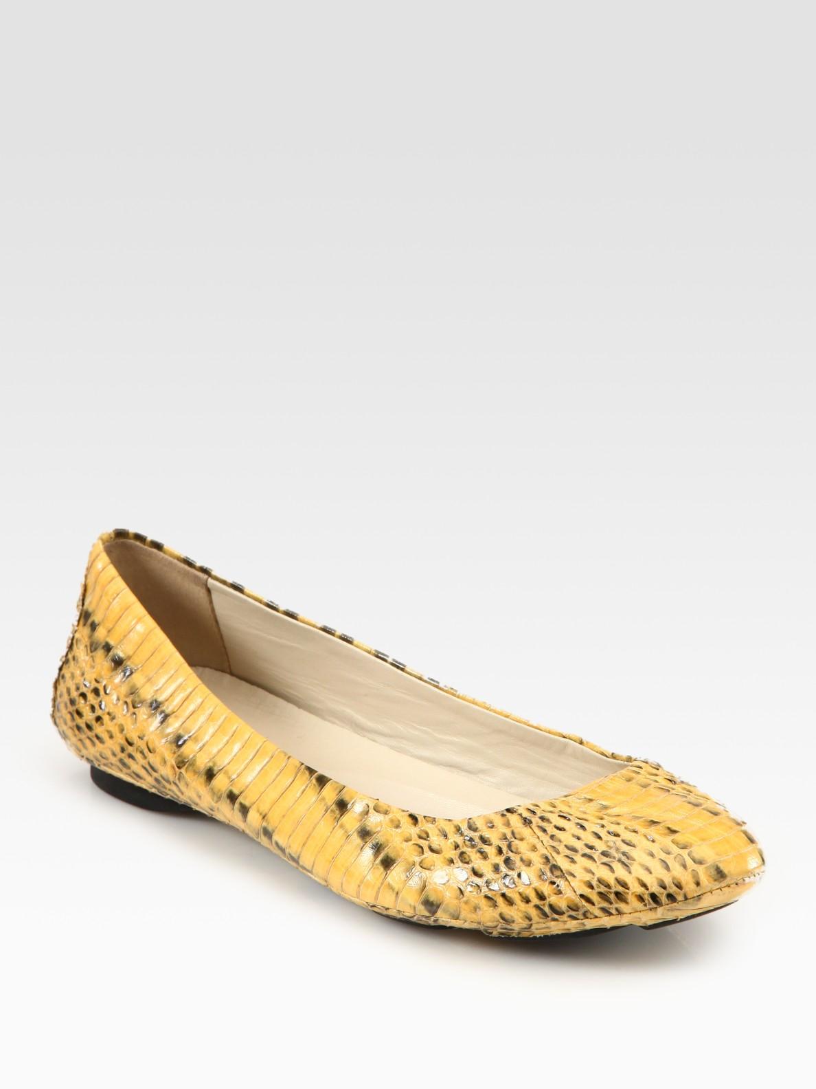 Kors By Michael Kors Odette Snake Print Leather Ballet