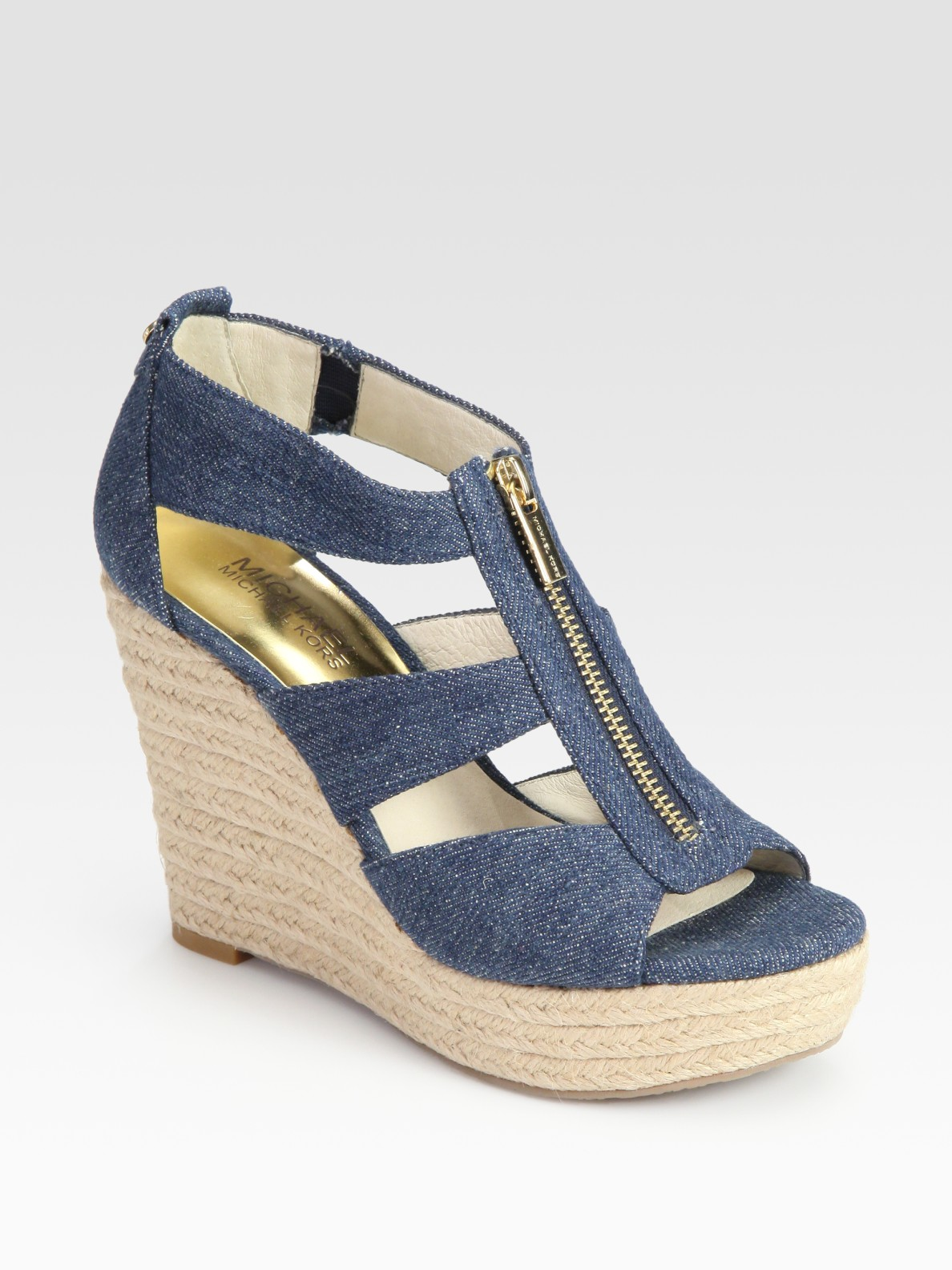 2ac03419684 Lyst - MICHAEL Michael Kors Damita Espadrille Wedge Sandals in Blue