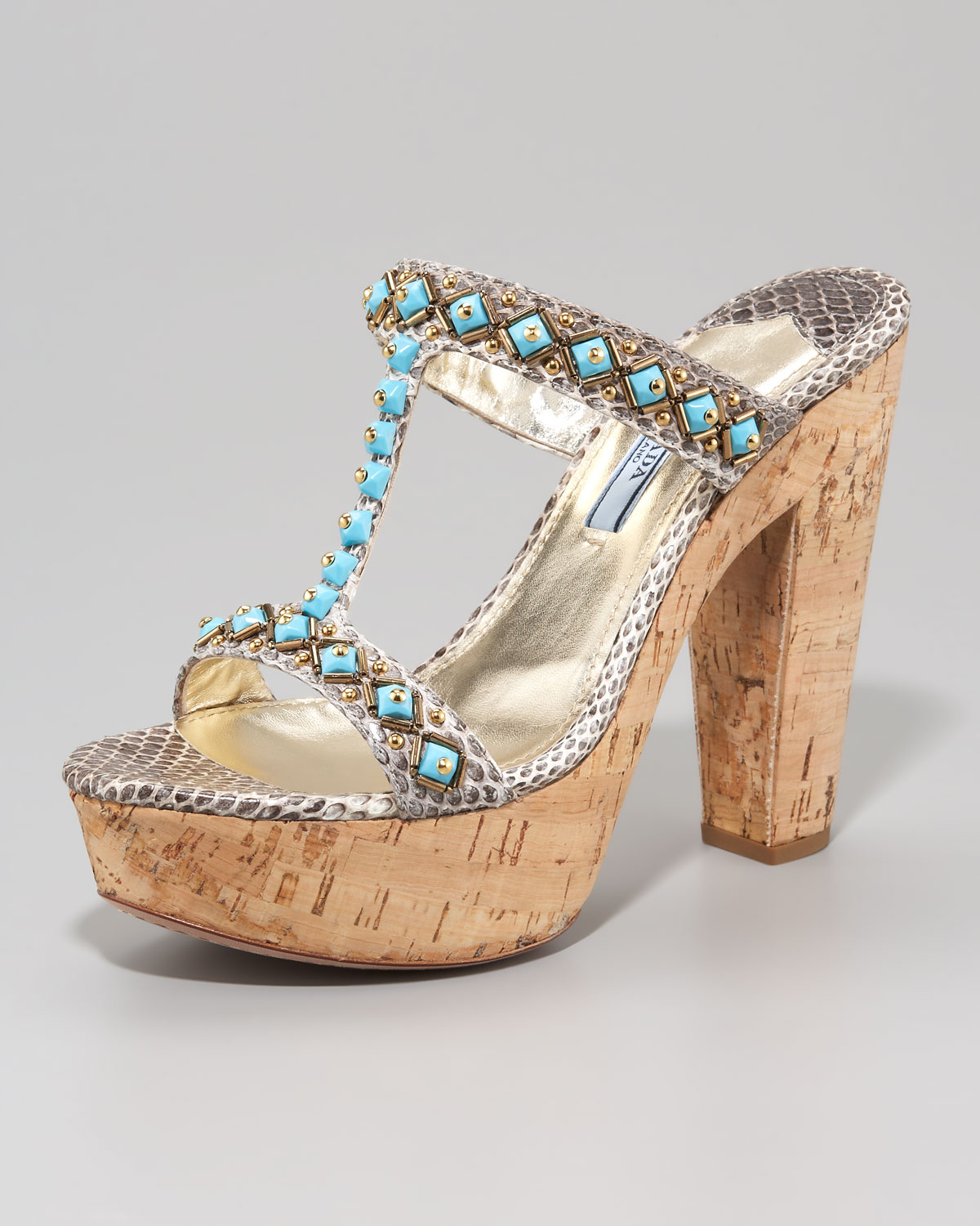 Prada Embellished Ayers Sandals outlet visa payment in China pY86C