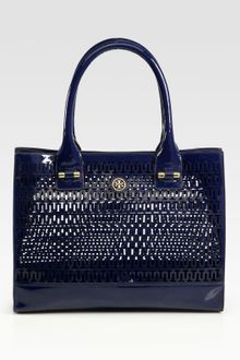 Tory Burch Mini Georgiana Patent Leather Tote Bag - Lyst