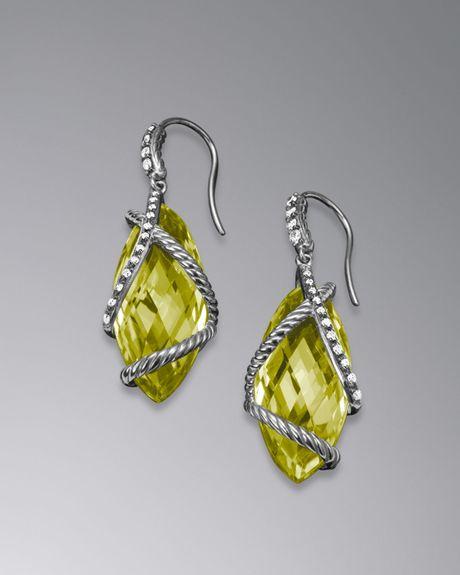 david yurman cable wrap earrings lemon citrine 24x10mm