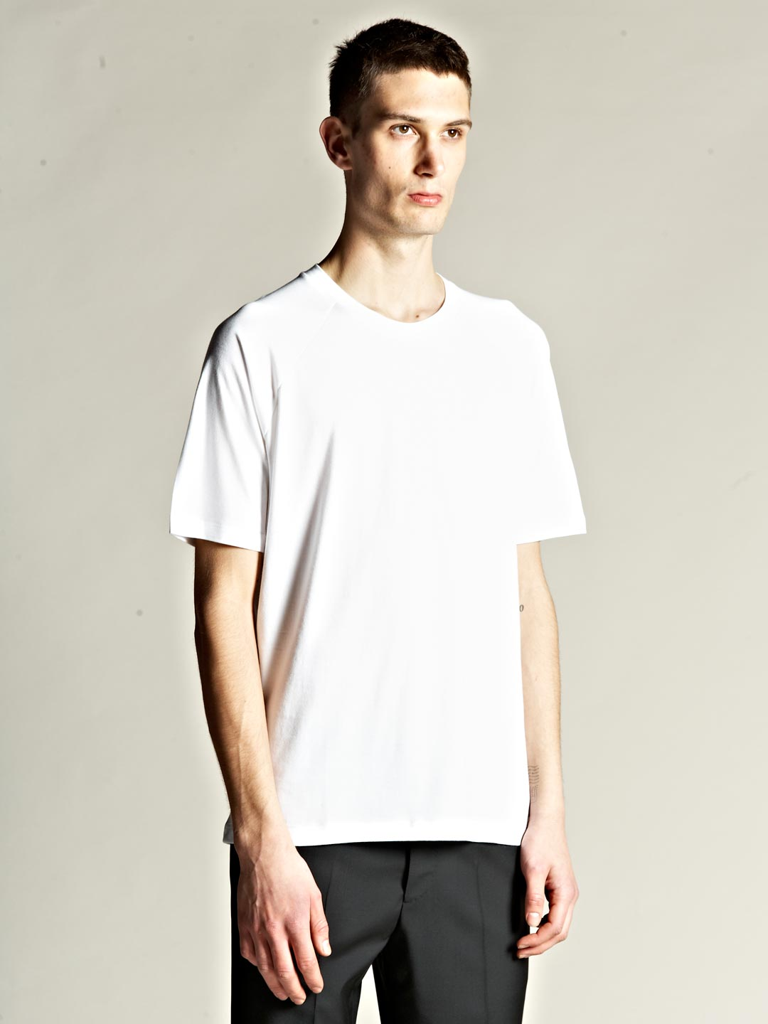 jil sander mens raglan sleeve t shirt in white for men lyst. Black Bedroom Furniture Sets. Home Design Ideas