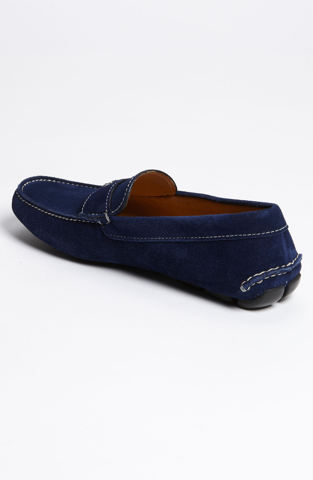 Sky Blue Suede Driving Shoes