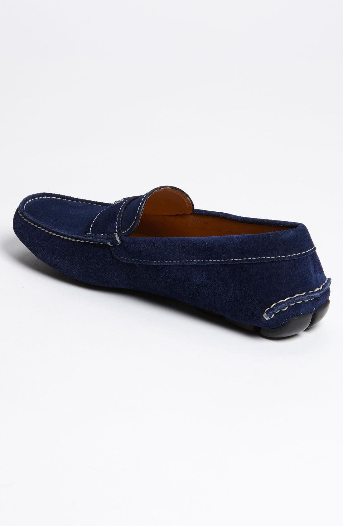c0575896f5c5 Prada Suede Driving Shoe in Blue for Men